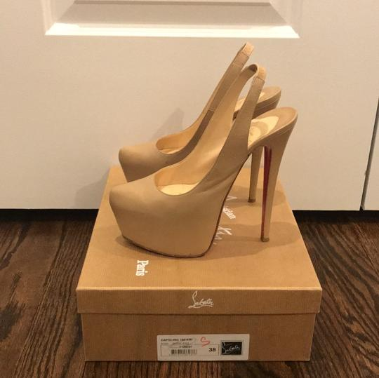 Christian Louboutin Nude Leather Platforms Image 3