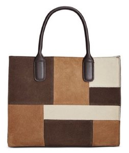 Giani Bernini 844883043217 Chocolate Convertible Medium Faux Leather Tote in Brown and Caramel