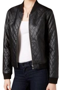 Bar III black Leather Jacket