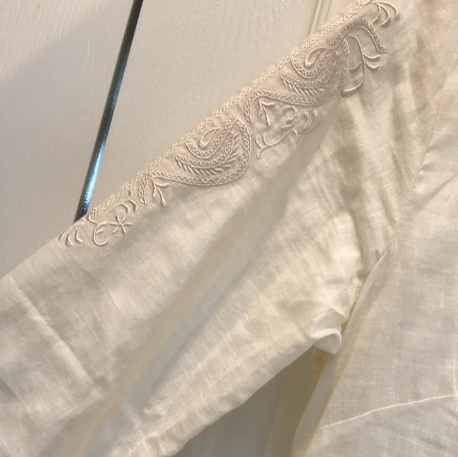 J.Crew Linen Cotton Embroidered Longsleeve Tunic Image 6