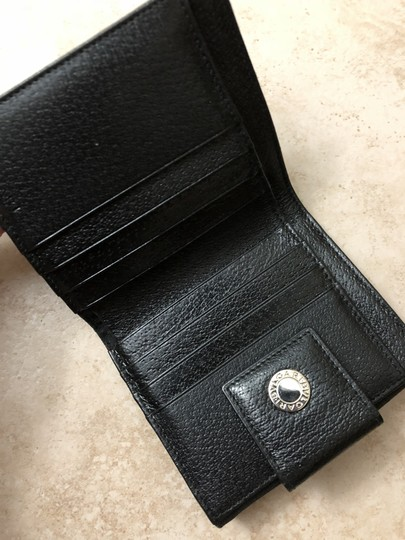 BVLGARI Bvlgari Black Monogram Fabric Bi Fold Small Wallet Image 4
