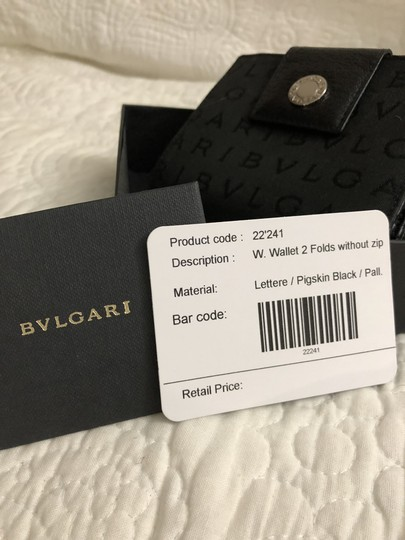 BVLGARI Bvlgari Black Monogram Fabric Bi Fold Small Wallet Image 5