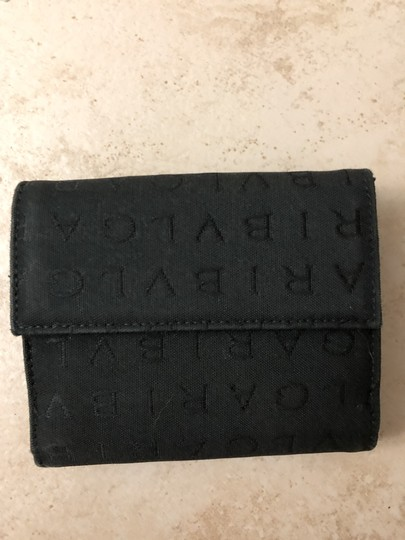 BVLGARI Bvlgari Black Monogram Fabric Bi Fold Small Wallet Image 6