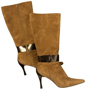 Linea Paolo Suede Leather Tan Boots