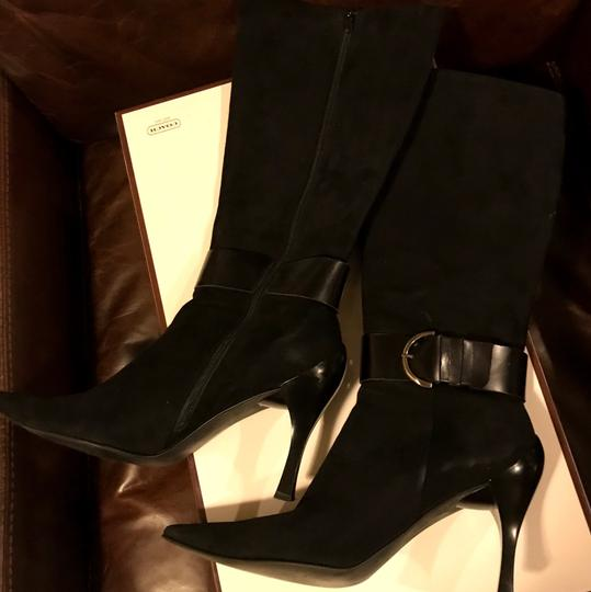 Linea Paolo Suede Leather Black Boots Image 1