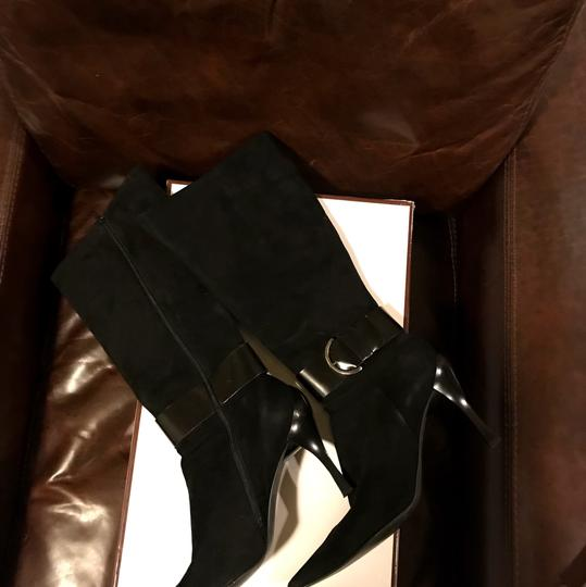 Linea Paolo Suede Leather Black Boots Image 2