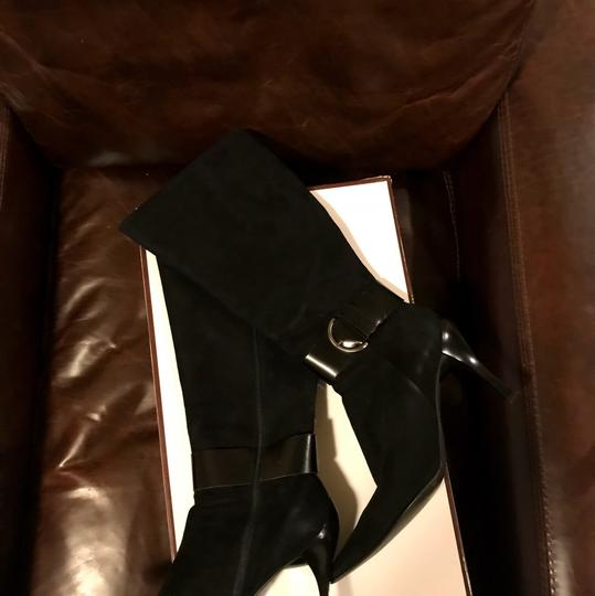 Linea Paolo Suede Leather Black Boots Image 4