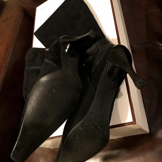 Linea Paolo Suede Leather Black Boots Image 8