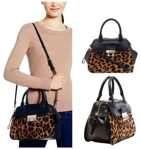 Kate Spade New With Tags Leopard Print Leather Calf Hair Gold Hardware Strap Small Deal Alice Street Lux Adriana Shoulder Bag