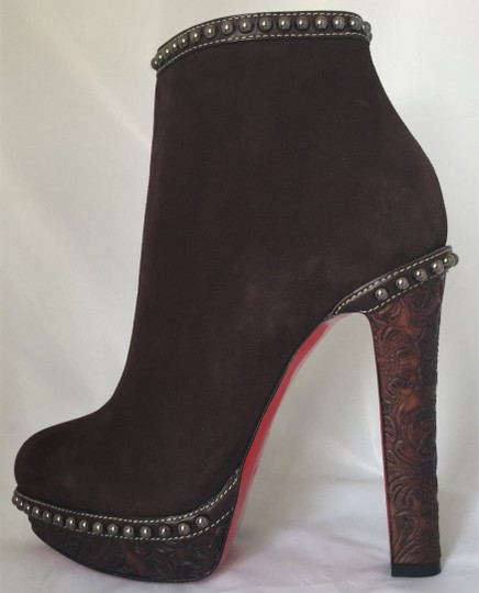 Christian Louboutin Ankle Heel Alti Brown Boots Image 2