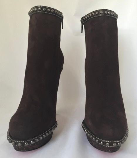 Christian Louboutin Ankle Heel Alti Brown Boots Image 4