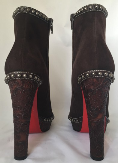 Christian Louboutin Ankle Heel Alti Brown Boots Image 7