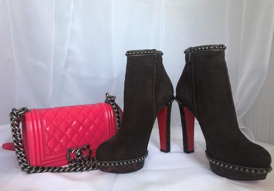 Christian Louboutin Ankle Heel Alti Brown Boots Image 9
