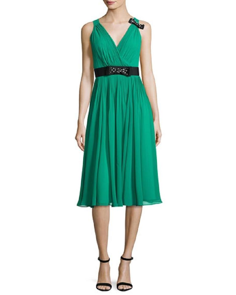 Kate Spade Emerald Ring Bow Crystal Embellished Green Pleated Tea ...