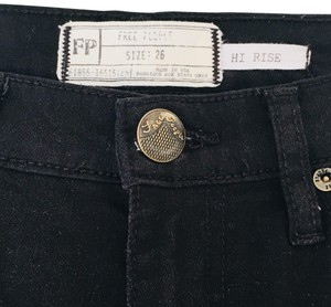 Free People High Rise Cropped Skinny Jeans-Dark Rinse