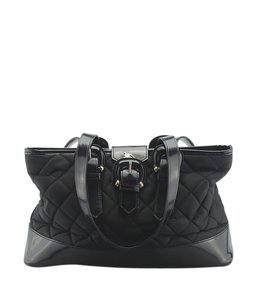 Burberry Nylonxleather Tote in Black