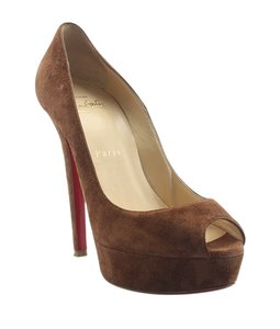 Christian Louboutin Suede Brown Pumps