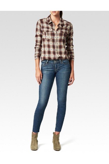 Paige Plaid Shirt Western Button Down Shirt Dusty Brown Image 3