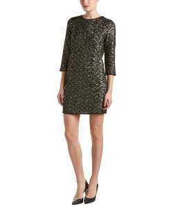 Zadig & Voltaire Sequin Black Gold Dress