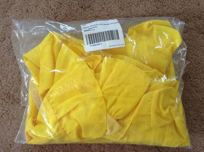 Anthropologie short dress Yellow Adjustable Straps Side Zip Happy Breezy Tiered Ruffled Bright Cool on Tradesy Image 11