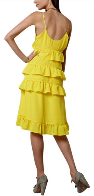 Anthropologie short dress Yellow Adjustable Straps Side Zip Happy Breezy Tiered Ruffled Bright Cool on Tradesy Image 5