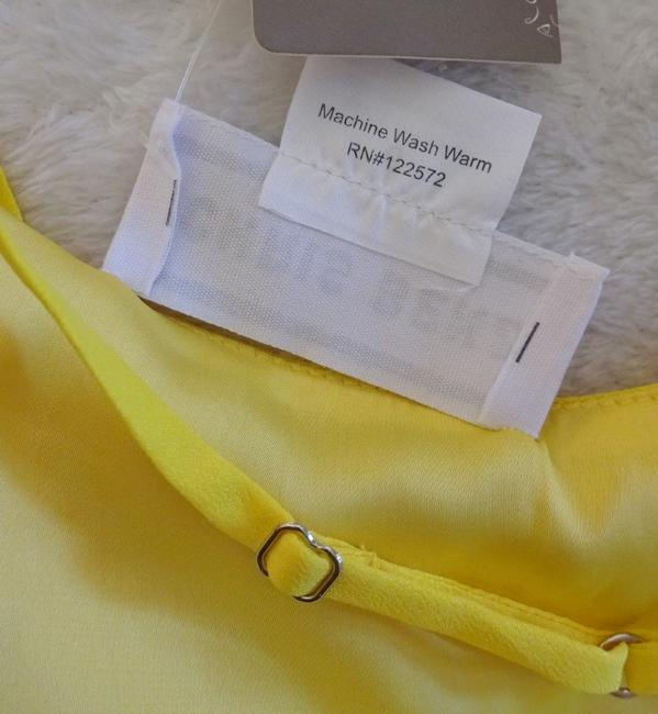 Anthropologie short dress Yellow Adjustable Straps Side Zip Happy Breezy Tiered Ruffled Bright Cool on Tradesy Image 9
