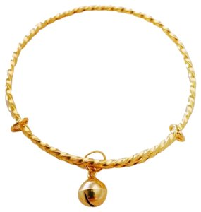 24k Solid Gold Girls Bangle