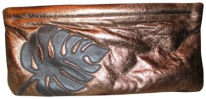 Great American Leather Works Metallic copper & brown Clutch