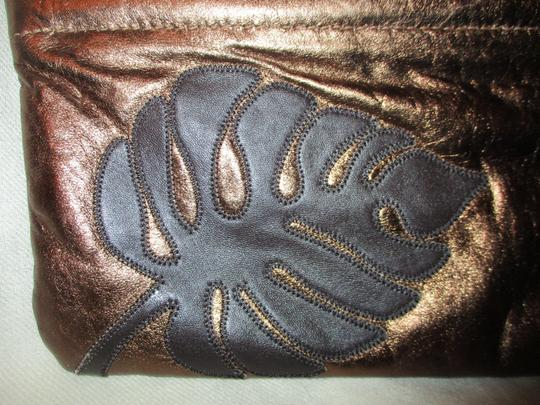 Great American Leather Works Metallic copper & brown Clutch Image 10