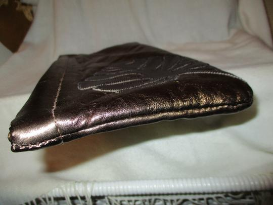 Great American Leather Works Metallic copper & brown Clutch Image 7