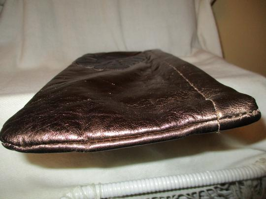 Great American Leather Works Metallic copper & brown Clutch Image 8