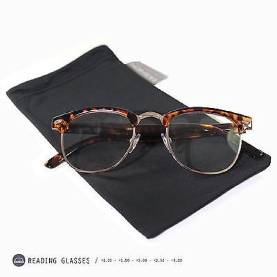 Tory's Timeless Treasures Retro Clubmaster Clear Reading Glasses/+2.50 Image 1