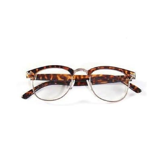 Tory's Timeless Treasures Retro Clubmaster Clear Reading Glasses/+2.50 Image 2