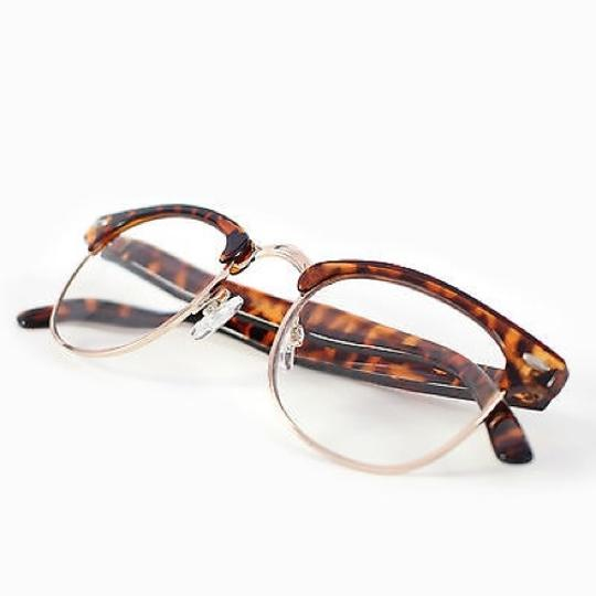 Tory's Timeless Treasures Retro Clubmaster Clear Reading Glasses/+2.50 Image 3