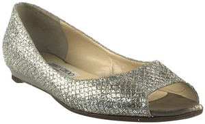 Jimmy Choo Limited Edition Silver and Gold Flats
