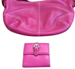Coach double fold wallet with coin pocket