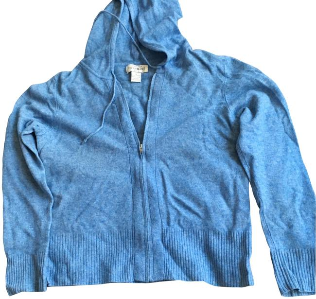 Preload https://img-static.tradesy.com/item/22780954/sutton-studio-cashmere-zip-front-hoodie-heathered-blue-sweater-0-4-650-650.jpg