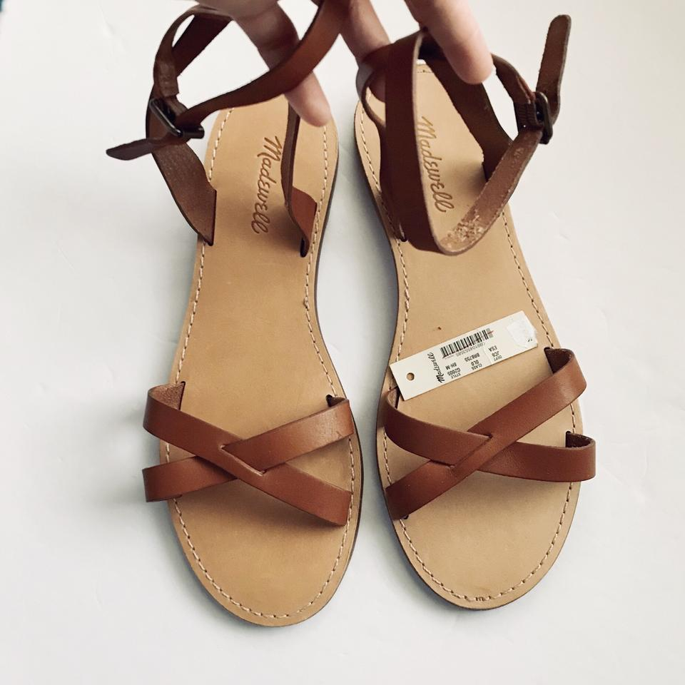 0a8e25611765 Madewell Brown Boardwalk Ankle-wrap Sandals Size US 8.5 Regular (M ...
