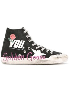 Golden Goose Deluxe Brand Distressed High Top Black Athletic