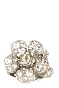 Chanel Chanel Crystal Floral CC Ring