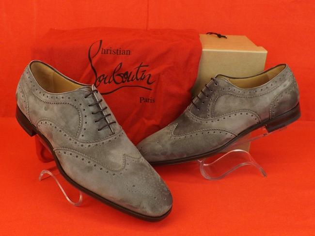 Item - Gray Platterissimo Suede Wingtip Lace Up Oxfords Brogue 42 9 Shoes