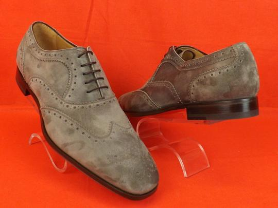 Christian Louboutin Gray Platterissimo Suede Wingtip Lace Up Oxfords Brogue 42 9 Shoes Image 4