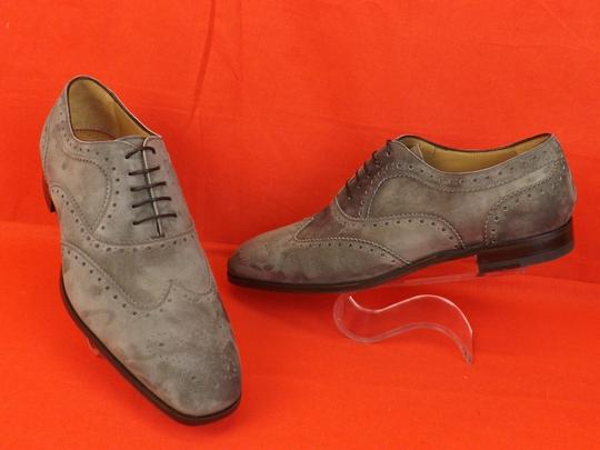 Christian Louboutin Gray Platterissimo Suede Wingtip Lace Up Oxfords Brogue 42 9 Shoes Image 6