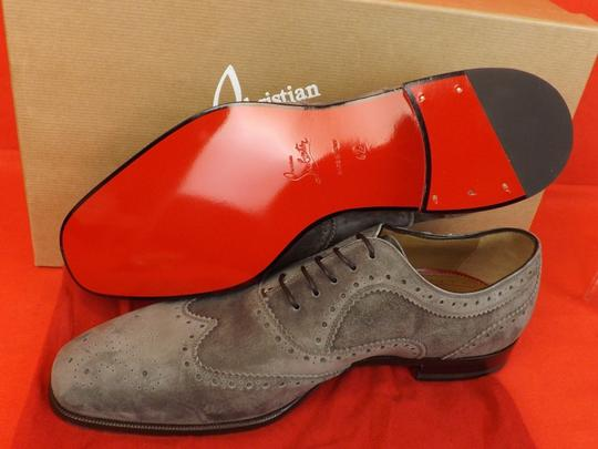 Christian Louboutin Gray Platterissimo Suede Wingtip Lace Up Oxfords Brogue 42 9 Shoes Image 7