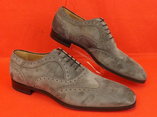 Christian Louboutin Gray Platterissimo Suede Wingtip Lace Up Oxfords Brogue 42 9 Shoes Image 8