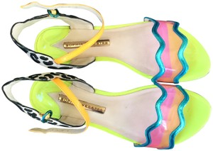 Sophia Webster Luxury Leather Color-blocking Imported multi Sandals