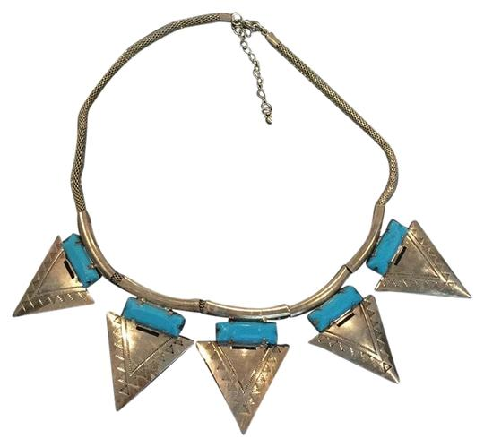 Preload https://img-static.tradesy.com/item/22781758/gold-and-turquoise-aztec-necklace-0-1-540-540.jpg