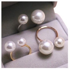 Queenesthershop Women Extra Large Pearl Silver Plated Ring