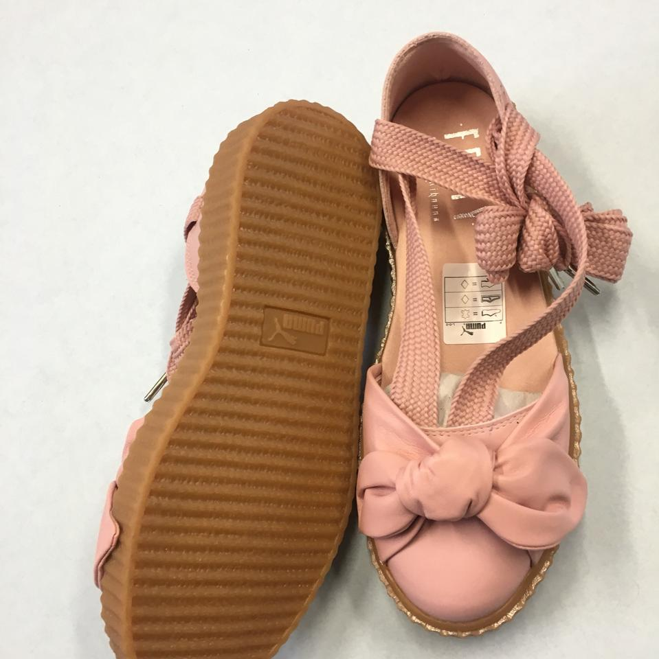 size 40 a284a f5ba0 Pink Bow Creeper Sandals