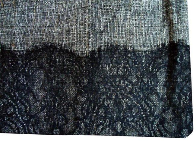 Classiques Entier Side Zip Fully Lined + Lace Scalloped Lace A Line Career Skirt Black Tweed Image 3